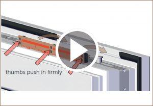 arimeo classic S - installation of the self-adjusting window rebate vent